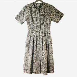 Lanz of Salzburg Vintage Print Midi Dress S/6
